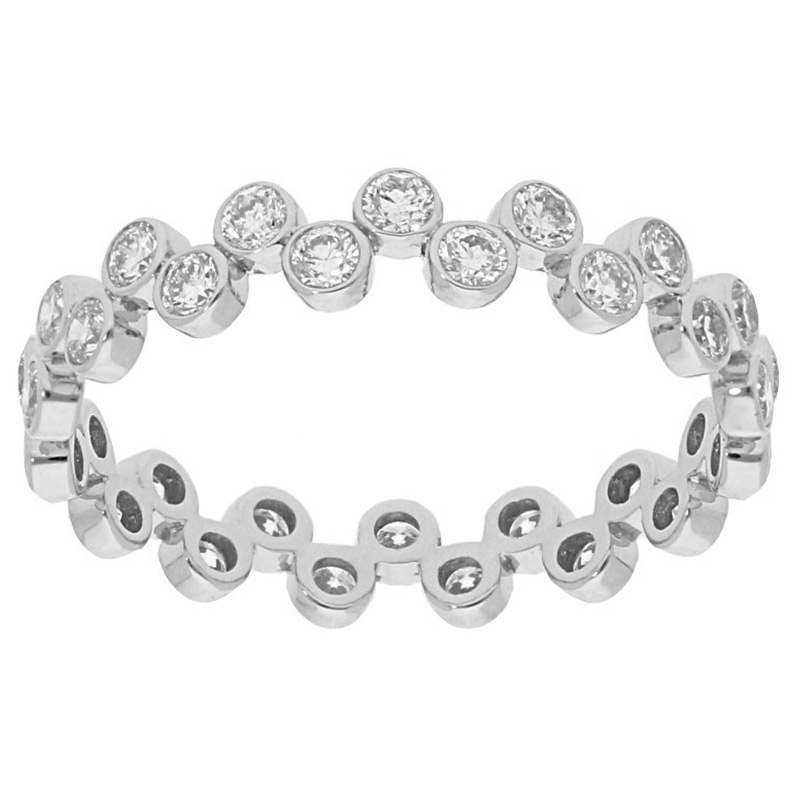 Deutsch Signature Wavy Diamonds Bezel Eternity Band