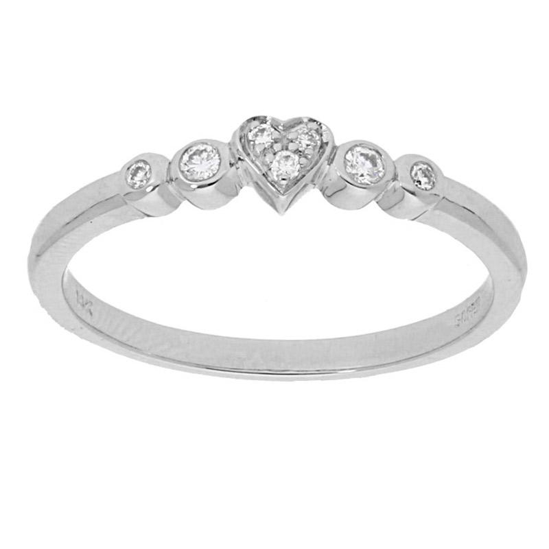 Deutsch Signature Mini Heart Diamond Ring