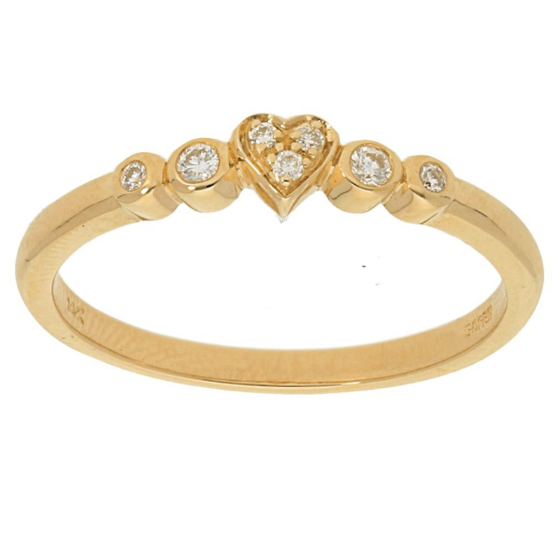 Deutsch Signature Mini Heart Diamond Ring