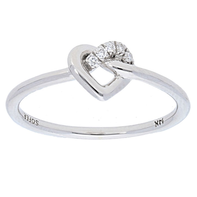 Deutsch Signature Diamond Heart Knot Ring