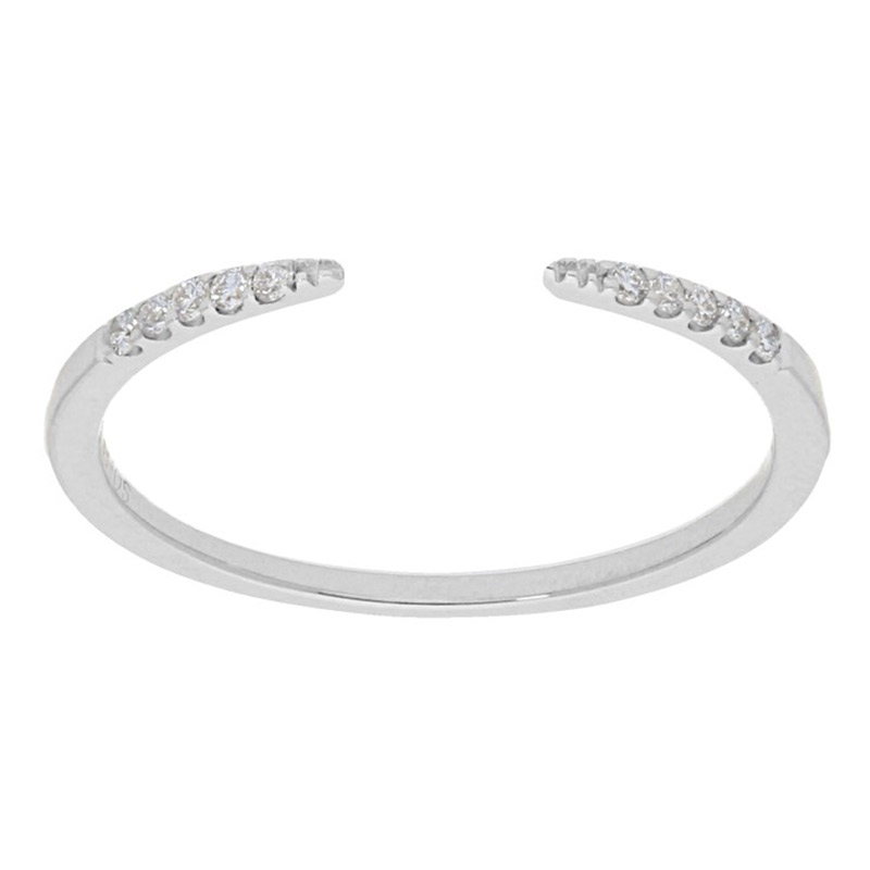 Deutsch Signature Open Pave Diamond Ring