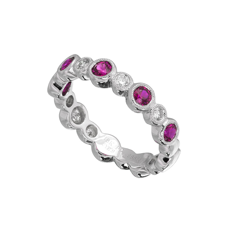 Jye's Alternating Ruby and Diamond Ring
