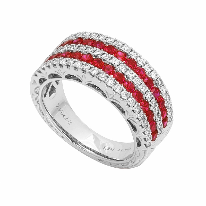 Jye's Ruby and and Diamond 5 Row Band