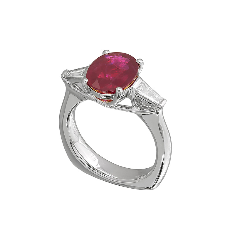 Jye's Ruby and Baguette Diamond Ring