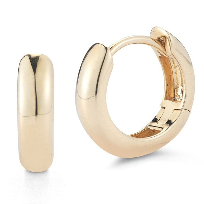 Deutsch Signature 14K Yellow Gold Huggie Earrings