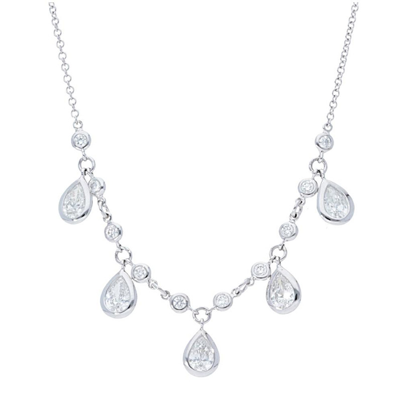 Deutsch Signature PEAR WITH TEN PLAIN BEZELS CONNECTED NECK