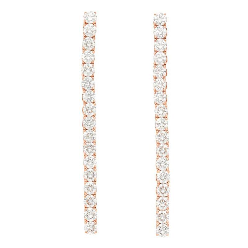 Deutsch Signature 1 Line Diamond Drop Stud Earrings