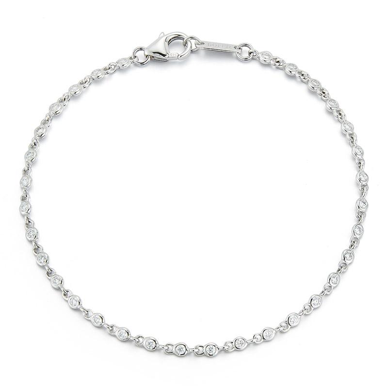 Deutsch Signature All Connected Plain Bezel Diamonds by the Yard Bracelet
