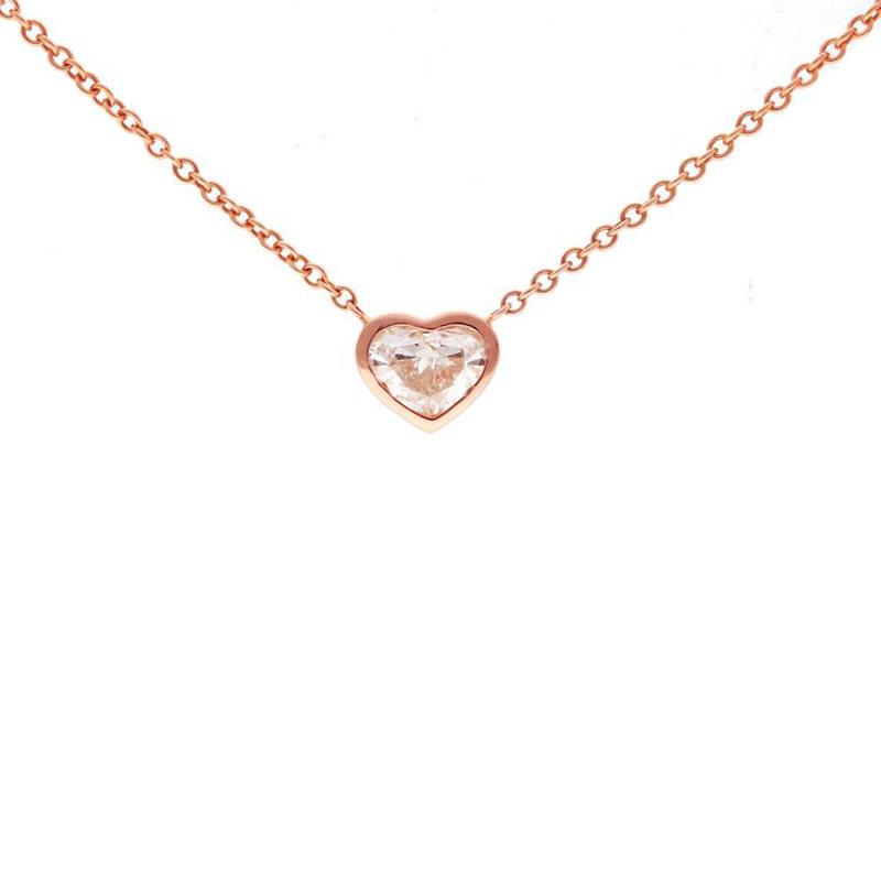 Deutsch Signature Heart Diamond Bezel Necklace