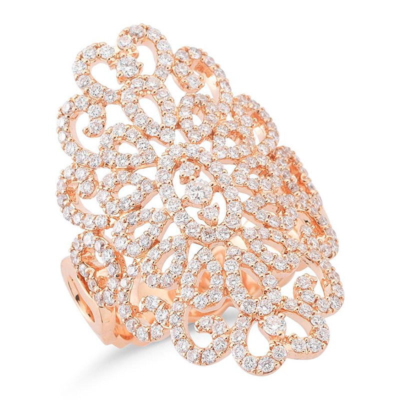Deutsch Signature Open Pave Diamond RIng