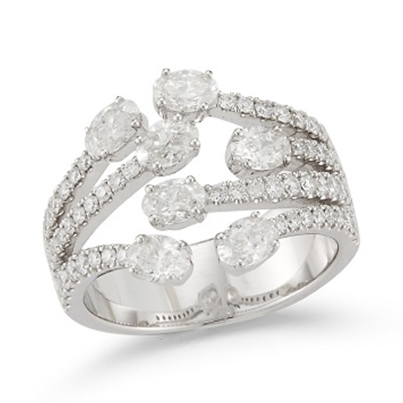 Deutsch Signature Multi Diamond and Row Ring