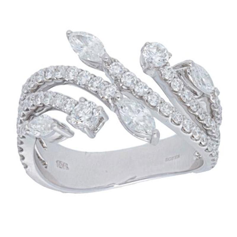 Deutsch Signature Mulit Row with Marquise Diamonds Ring
