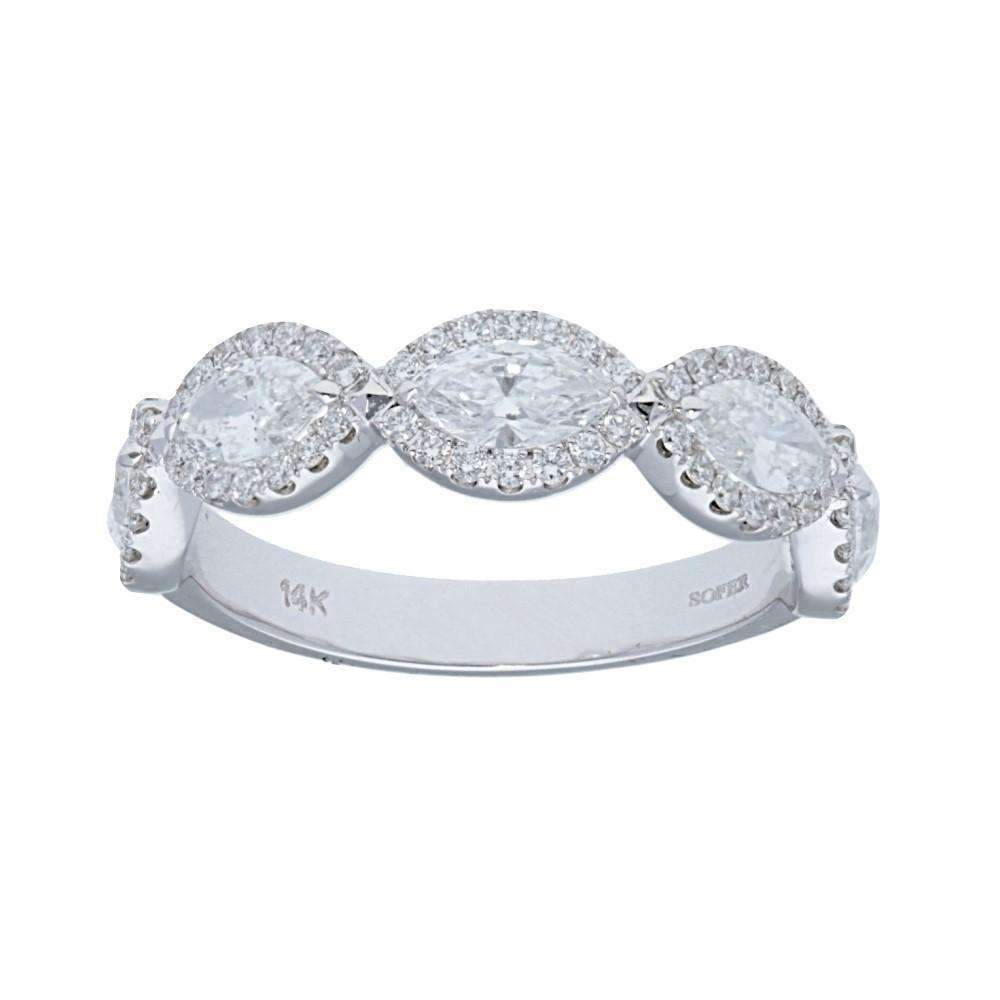 Deutsch Signature Five Station Marquise Halo Ring