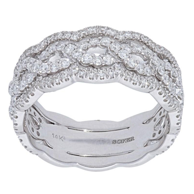 Deutsch Signature Wavy Diamond Twist Ring