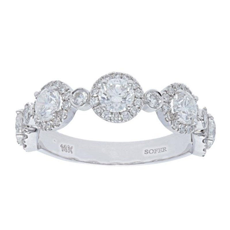 Deutsch Signature 5 Halo Diamond with Diamond Bezel Ring