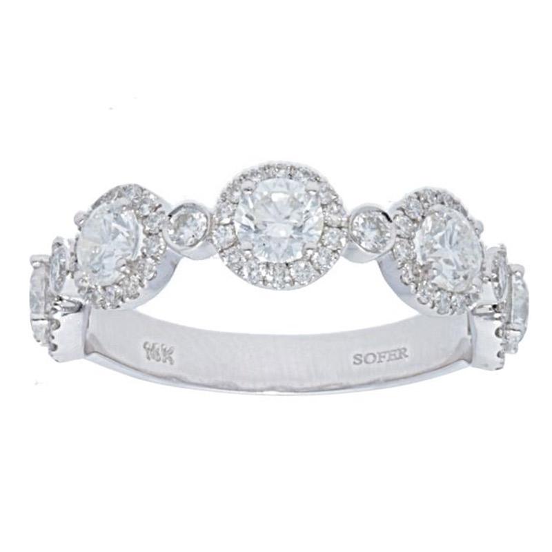 Deutsch Signature 5 Halo Diamond with Diamond Bezel Ring