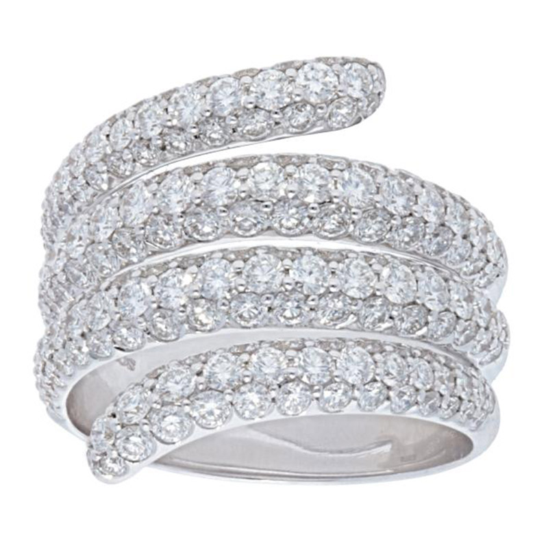 Deutsch Signature 4 Row Wrap Around Diamond Ring