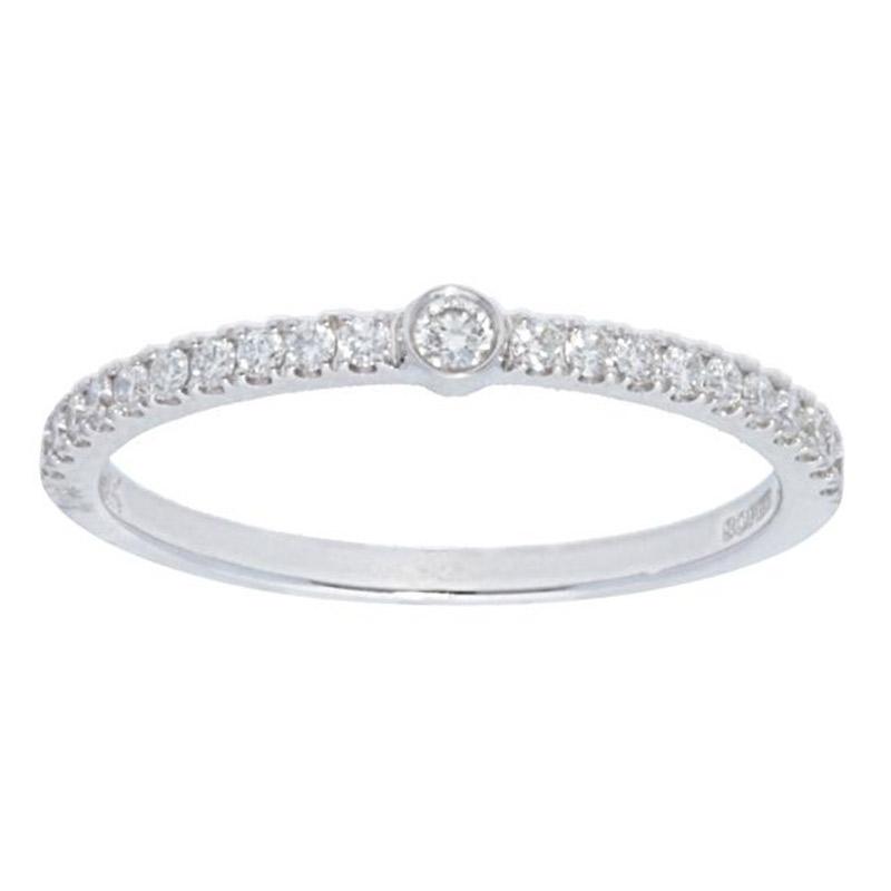 Deutsch Signature Single Diamond Bezel Pave Ring