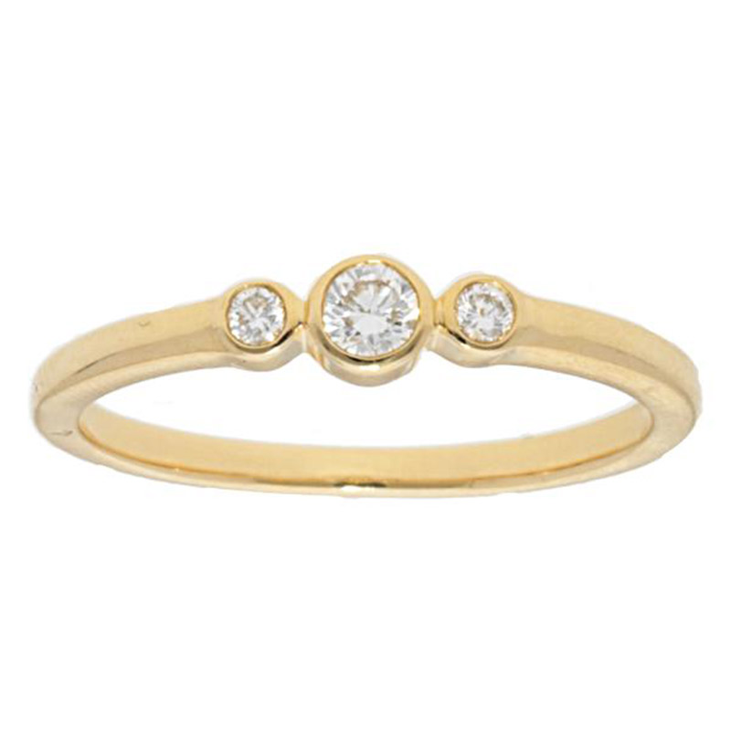 Deutsch Signature 3 Diamond Bezel Ring