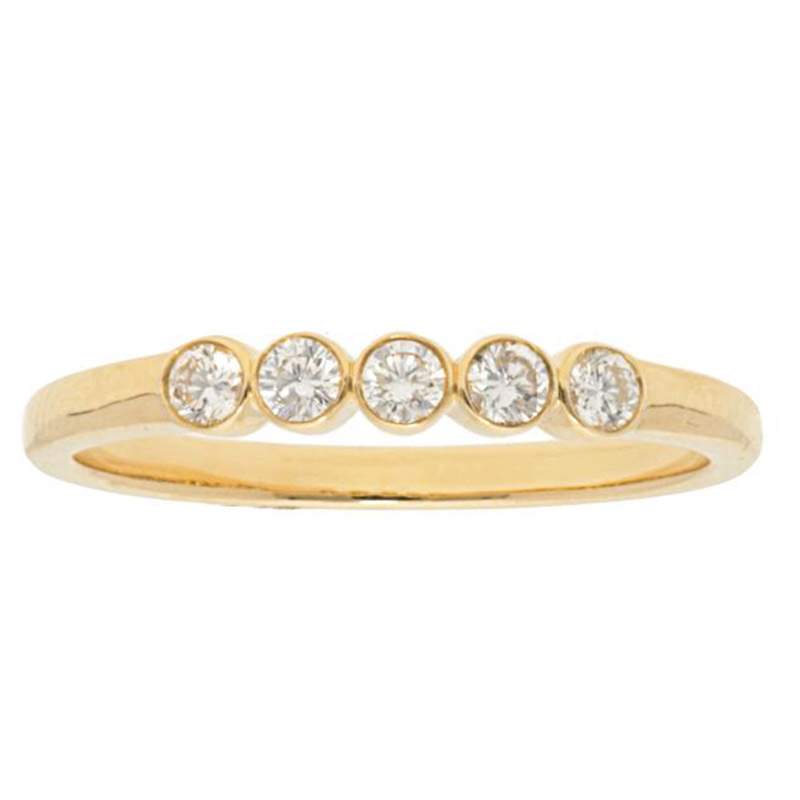 Deutsch Signature 5 Diamond Bezel Ring
