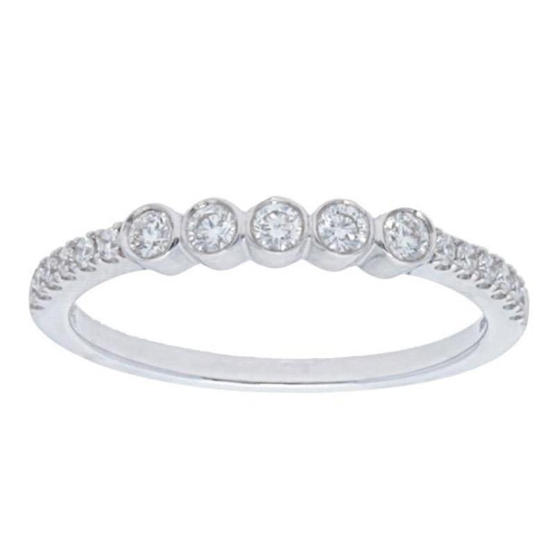 Deutsch Signature 5 Diamond Bezel Pave Ring