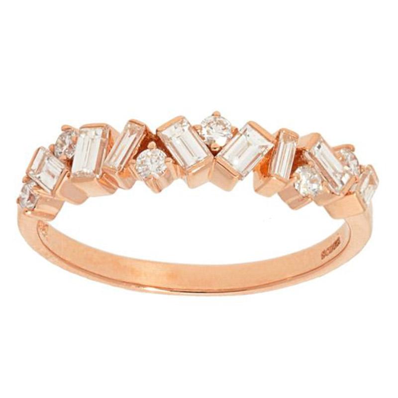 Deutsch Signature Alternating Diamond Ring