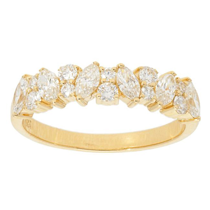 Deutsch Signature Alternating Marquise and Round Diamond Ring