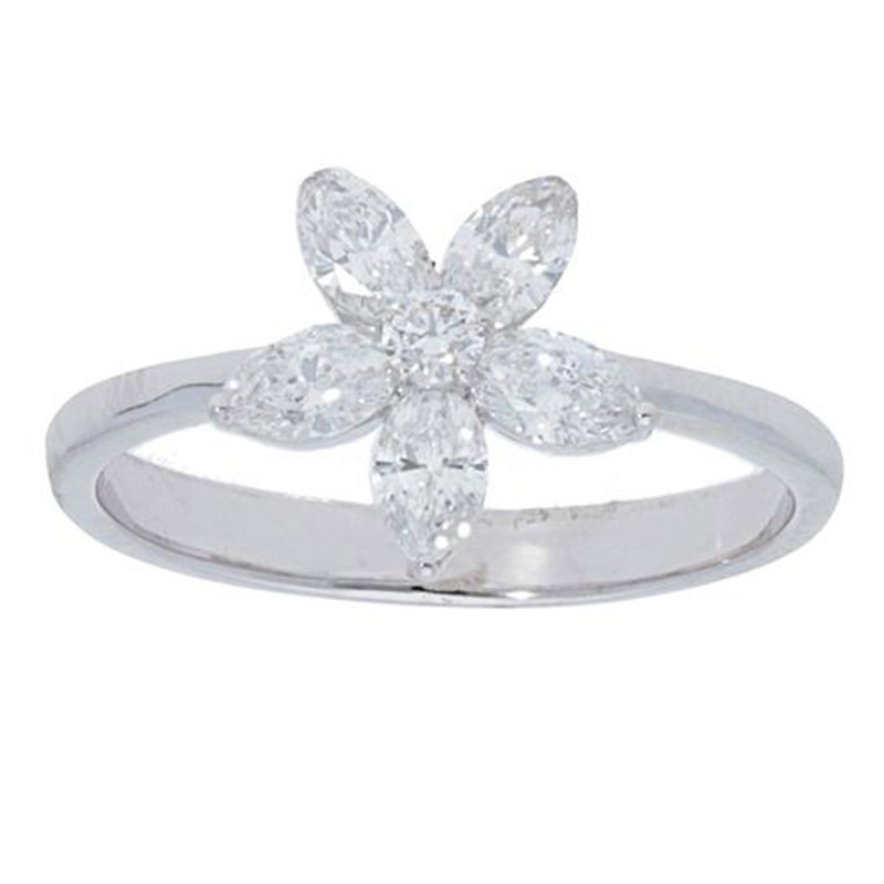 Deutsch Signature Marquise Diamond Flower Ring