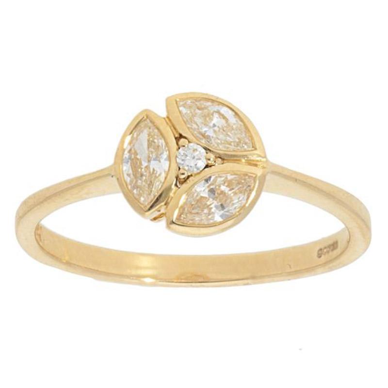Deutsch Signature Marquise Diamond Bezel Ring