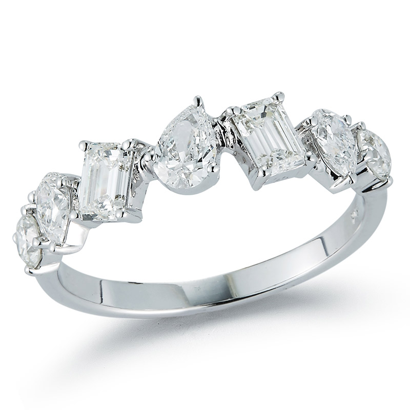 Deutsch Signature Multi Shape Alternating Diamond Band