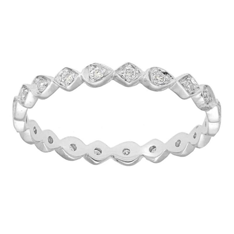 Deutsch Signature Diamond and Pear Shape Diamond Ring