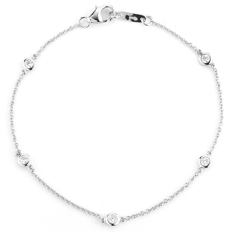 Deutsch Signature 5 Polished Bezel Diamonds By the Yard Bracelet