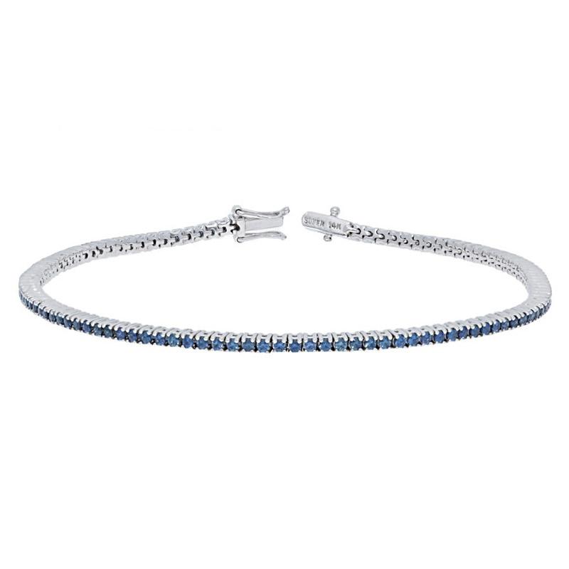 Deutsch Signature Blue Sapphire Tennis Bracelet
