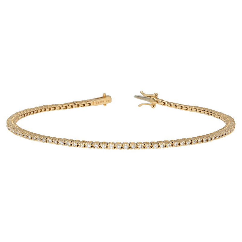 Deutsch Signature Diamond Tennis Bracelet