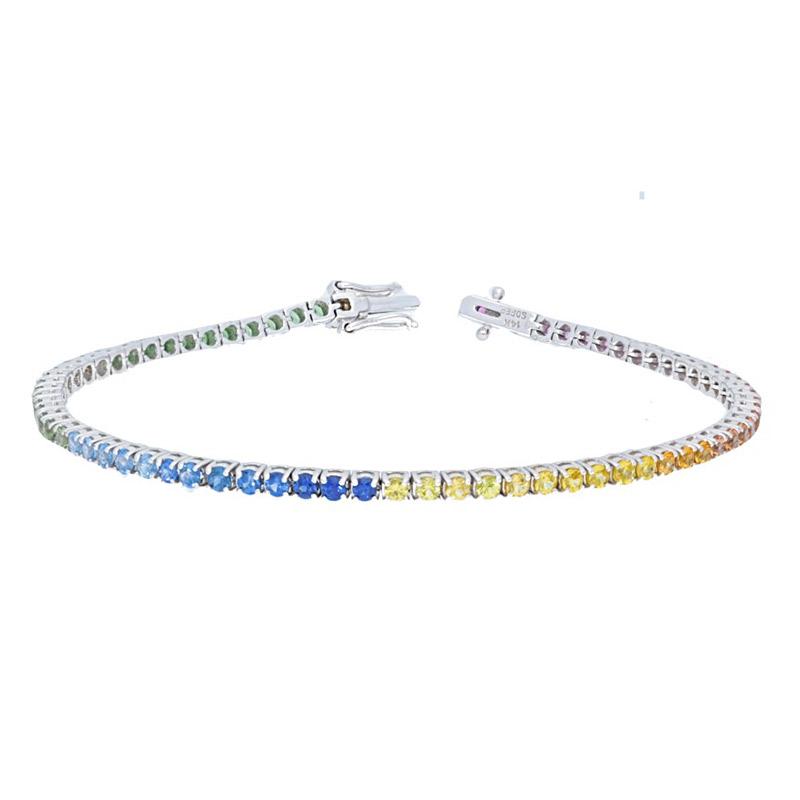 Deutsch Signature Rainbow Tennis Bracelet