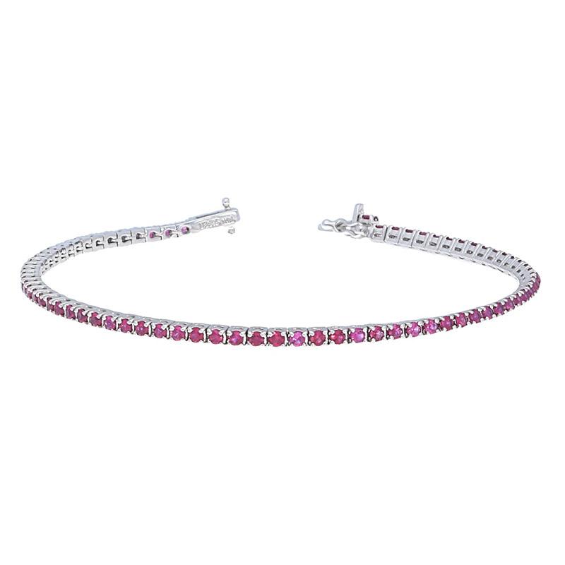 Deutsch Signature Ruby Tennis Bracelet