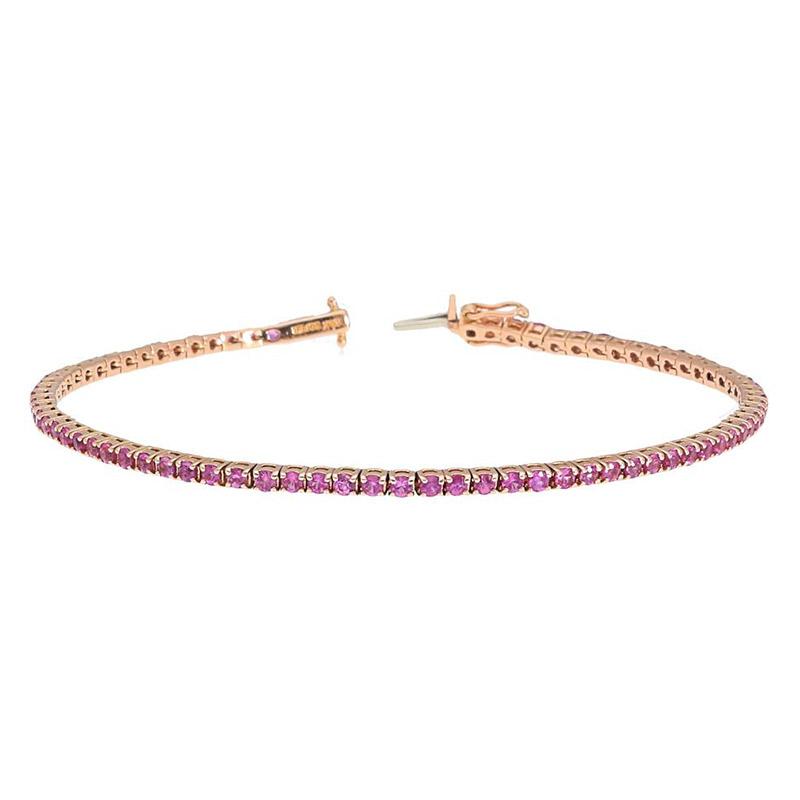 Deutsch Signature Pink Sapphire Tennis Bracelet