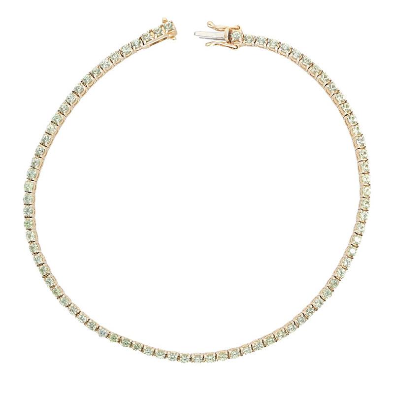 Deutsch Signature Green Sapphire Tennis Bracelet