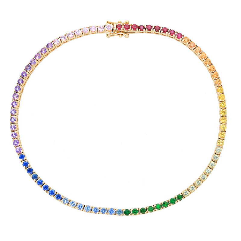 Deutsch Signature Rainbow Tennis Bracelet