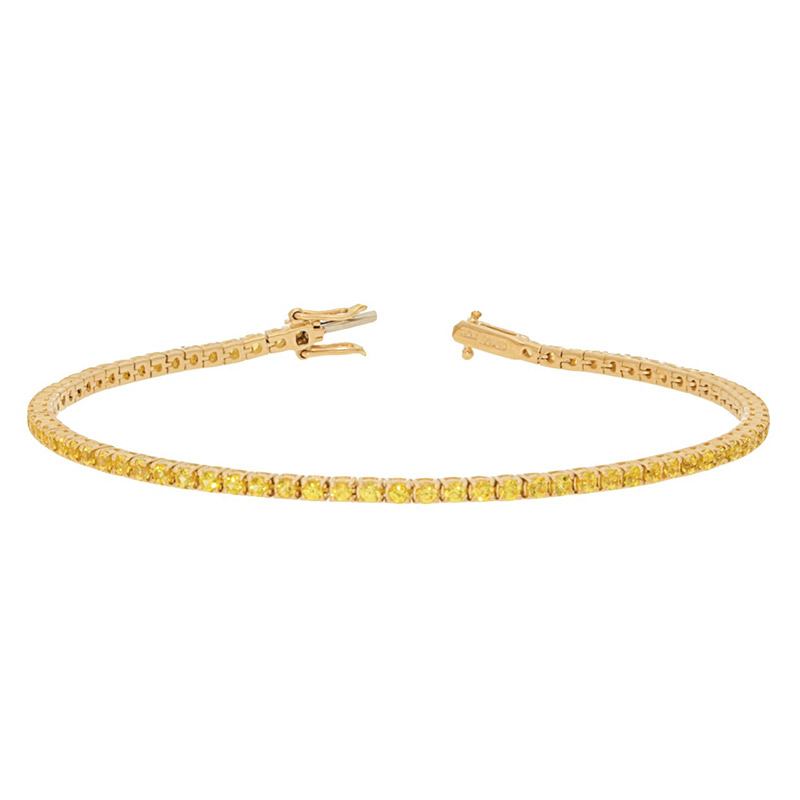 Deutsch Signature Yellow Sapphire Tennis Bracelet