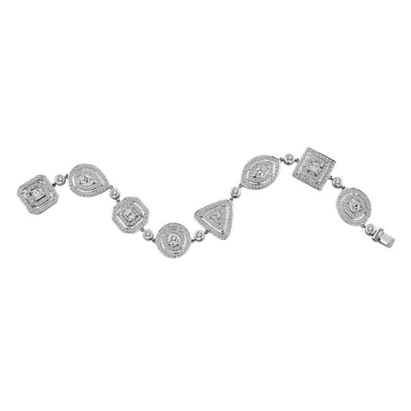 Deutsch Signature Multi Shape Diamond Bracelet