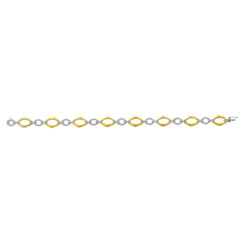 Deutsch Signature Marquise Shape Gold and Diamond Bracelet