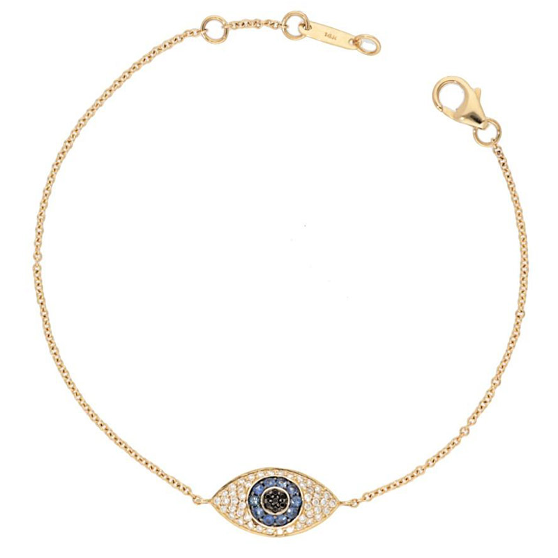 Deutsch Signature Small Evil Eye Bracelet
