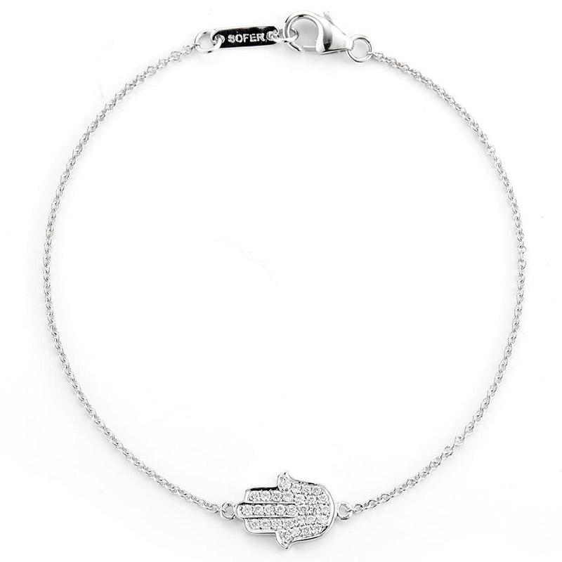 Deutsch Signature Diamond Hamsa Bracelet