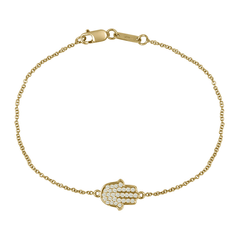 Deutsch Signature Diamond Hamsa Bracelet