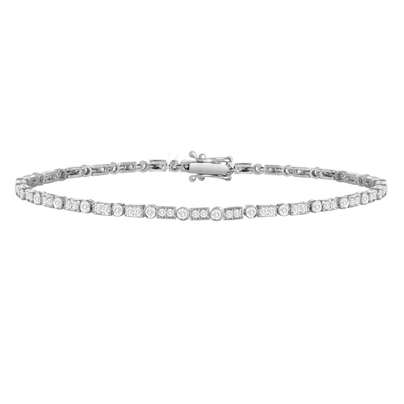 Deutsch Signature Diamond Bar and Bezel Bracelet