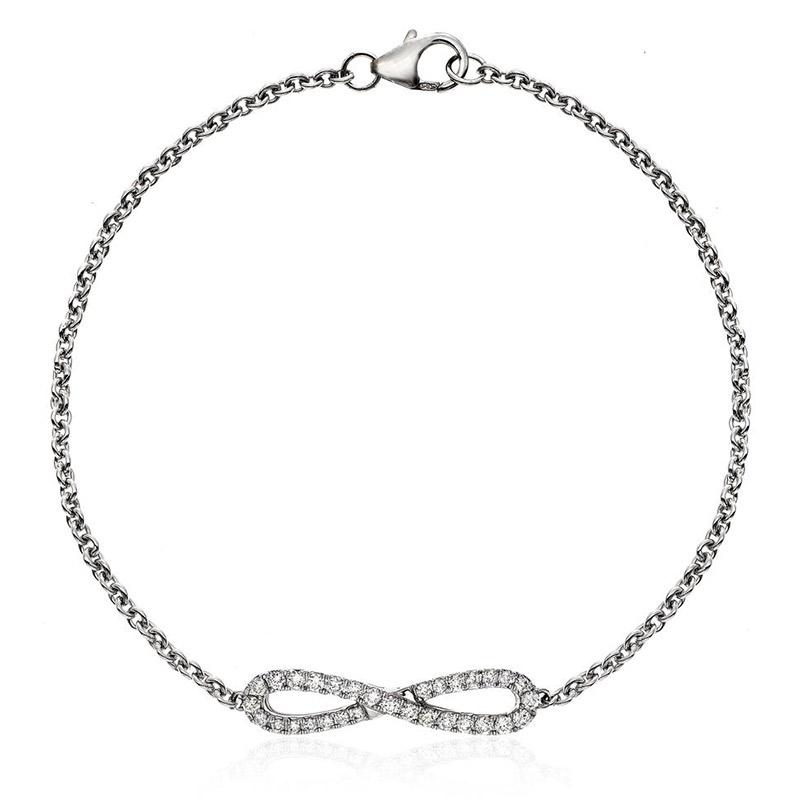 Deutsch Signature Diamond Infinity Bracelet