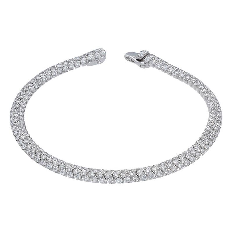 Deutsch Signature Domed Pave Diamond Bracelet