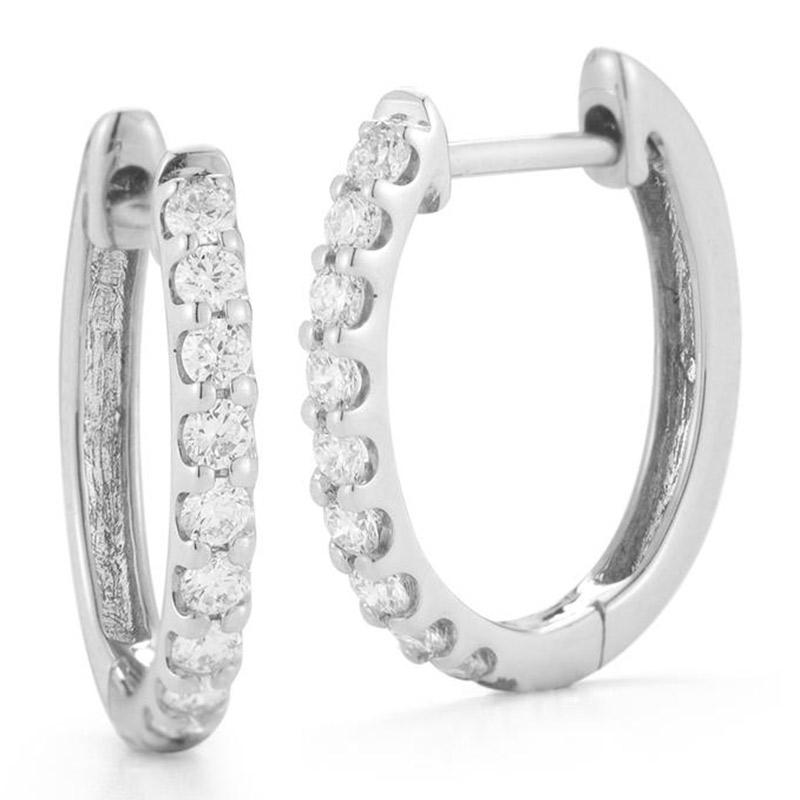 Deutsch Signature Diamond Huggie Earrings