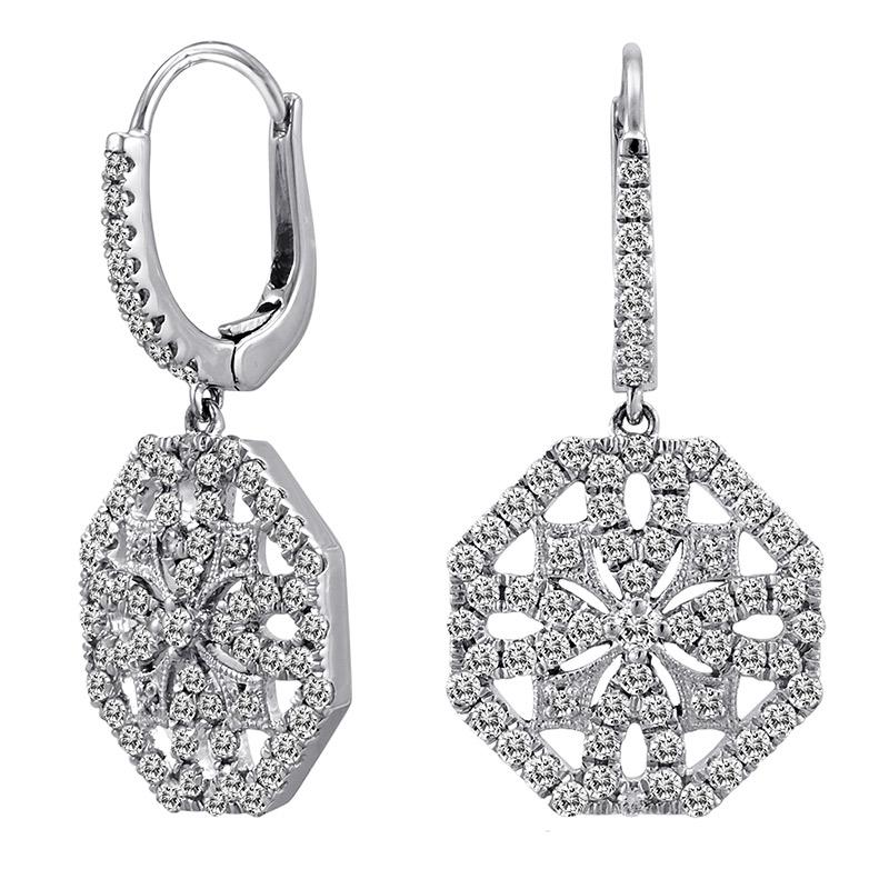 Deutsch Signature Small Diamond Medallion Huggie Earrings
